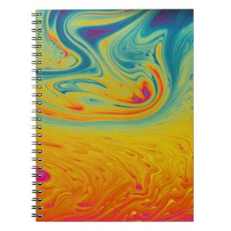 Redemoinhos psicadélicos cadernos