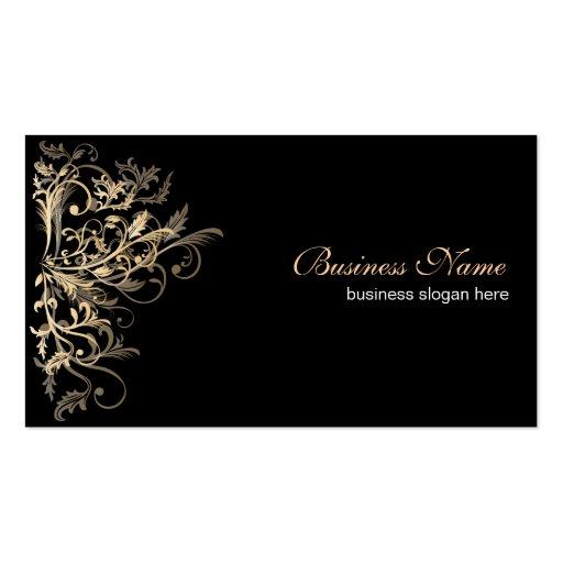 Redemoinhos retros elegantes da flor do ouro cartões de visitas