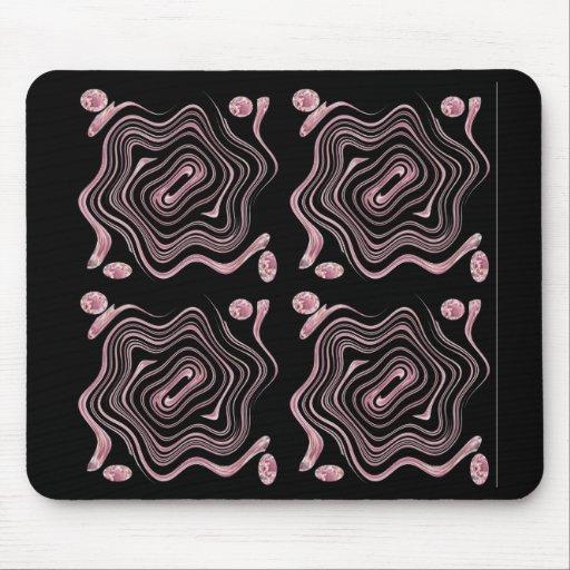 Redemoinhos roxos mouse pad