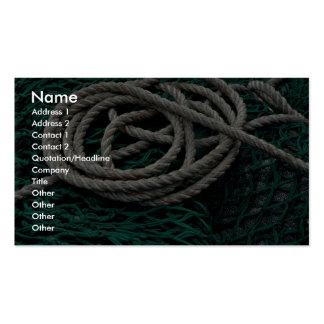 Redes e corda de pesca cartoes de visita