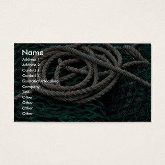 Redes e corda de pesca cartão de visitas