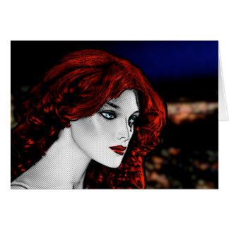Redhead do estilo da banda desenhada cartão comemorativo