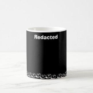 Redigido do governo caneca de café