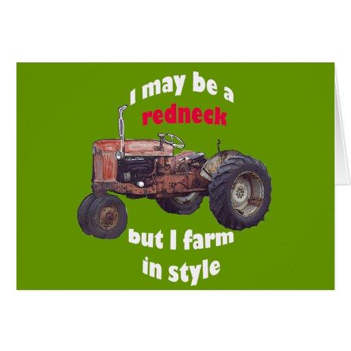redneck_tractor cartao