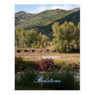 Redstone, Colorado no cartão do fim do verão