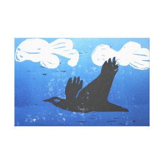 Redução preta do impressão do corvo