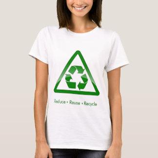 """""""reduza camisa do símbolo do verde do reciclar"""