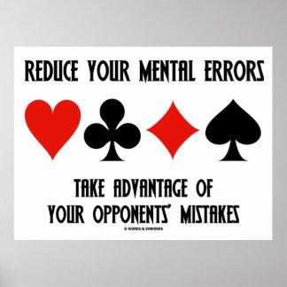 Reduza erros mentais tomam oponentes da vantagem poster