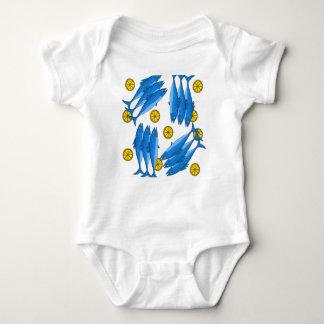 Refeição 2 da cavala body para bebê