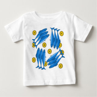 Refeição 2 da cavala camiseta para bebê