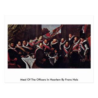 Refeição dos oficiais em Haarlem por Frans Hals Cartao Postal