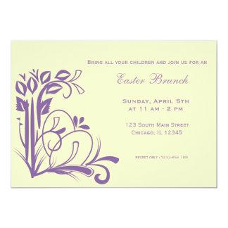 Refeição matinal da páscoa convites personalizados