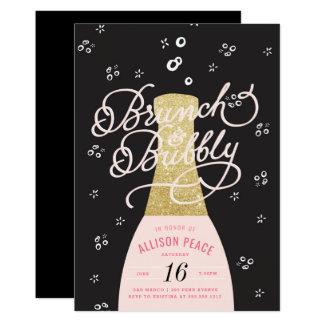 Refeição matinal de Champagne e convite