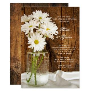 Refeição matinal do casamento do frasco de convite 12.7 x 17.78cm