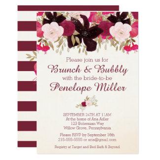 Refeição matinal floral boémia e convite