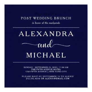 Refeição matinal minimalista do casamento do cargo convite quadrado 13.35 x 13.35cm
