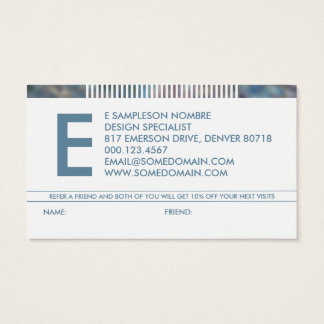 referência hazed do monograma cartão de visitas
