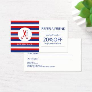 Referência moderna listrada vermelha branca do cartão de visitas