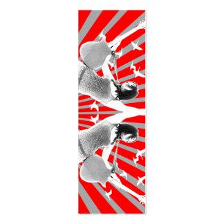 Reflexão - cartão magro cartao de visita