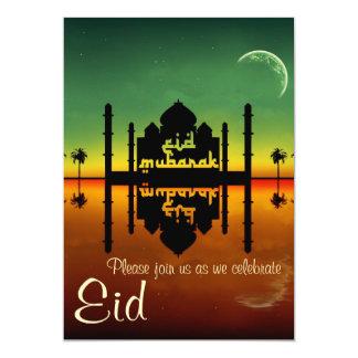 Reflexão da noite da mesquita - convite de festas