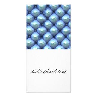 reflexão de seda, azul (i) cartão com foto