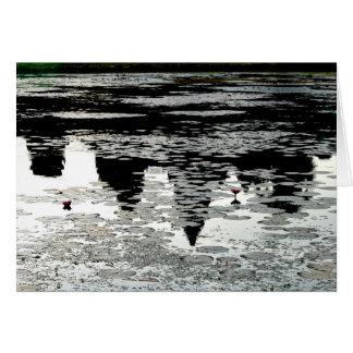 Reflexão em Angkor Wat Cartão De Nota