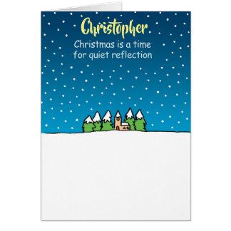 Reflexão quieta. Cartão de Natal personalizado