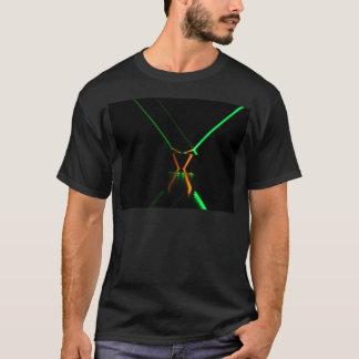 reflexão verde do raio laser camiseta