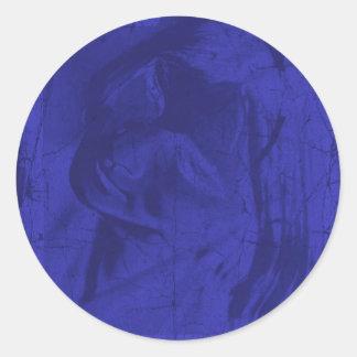 Reflexões azuis adesivo