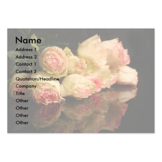Reflexões cor-de-rosa cartões de visitas