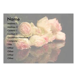 Reflexões cor-de-rosa cartão de visita grande