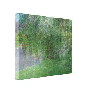 Reflexões da manhã impressão em canvas