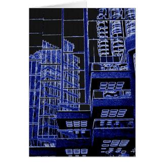Reflexões de Vancôver no cartão azul do multiuse