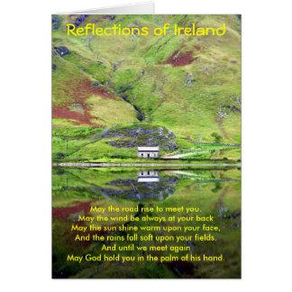 Reflexões do cartão de Ireland