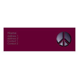 Reflexões do cartão de visita da paz