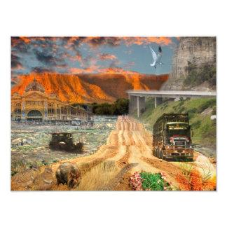 REFLEXÕES do poster da trilha da onça Oodnadatta Fotos