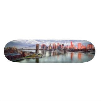 Reflexões lindos da opinião e da cidade da manhã shape de skate 18,1cm