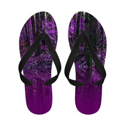 Reflexões roxas sandalias de praia