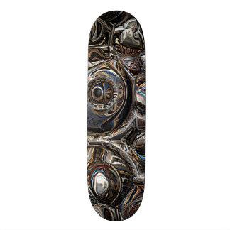Reflexões tridimensionais shape de skate 18,7cm