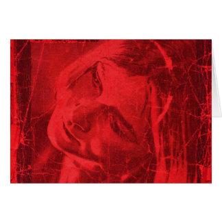 Reflexões vermelhas cartão comemorativo