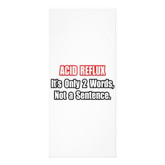 Reflux ácido… não uma frase panfletos informativos
