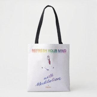 Refresque sua mente com saco da meditação bolsas tote
