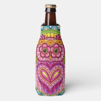 Refrigerador da garrafa da coruja - refrigerador porta-garrafa
