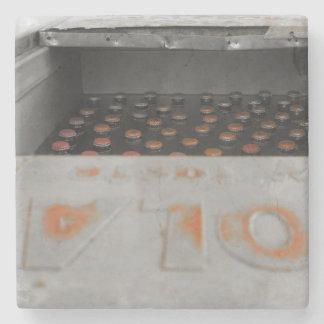 Refrigerador do metal porta-copos de pedra