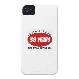 refrigere 38 anos de design velho do aniversário iPhone 4 capas