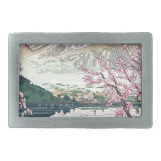 Refrigere a arte oriental da árvore de cereja do