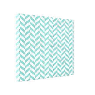 Refrigere a cópia azul de Herringbone da sarja Impressão De Canvas Esticadas