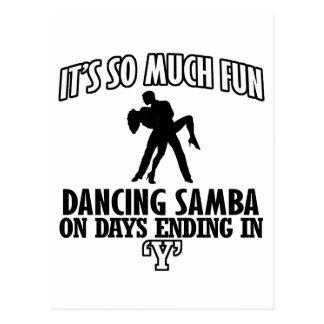 refrigere a tensão do DESIGN da dança da samba Cartão Postal