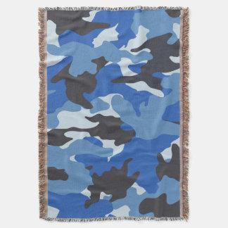 Refrigere coberturas tecidas militares azuis do manta