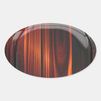 Refrigere etiquetas lustrosas de madeira enverniza adesivos oval